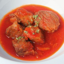 CARNE CON TOMATE,350 G.